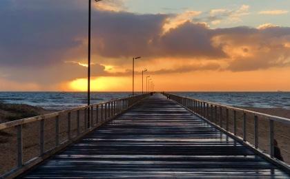 ponton australie sunset
